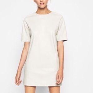 Zara white leather dress